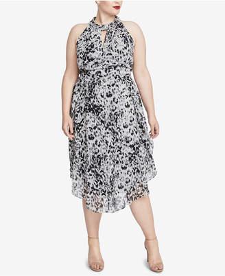 Rachel Roy Trendy Plus Size Knotted Midi Dress