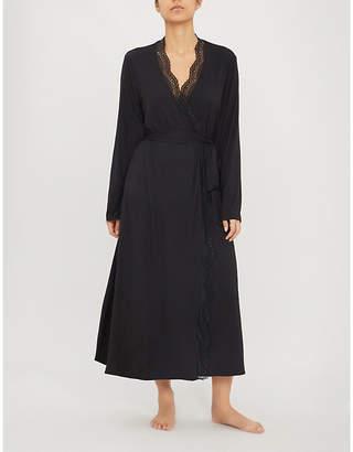 Eberjey Myla Classic long stretch-jersey robe