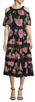 Kate Spade Vintage Bloom Shane Silk Midi Dress