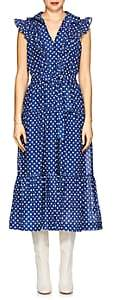 Robert Rodriguez Women's Dot-Print Cotton Voile Maxi Dress-Blue