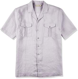 Isle Bay Linens Men's Short Sleeve Standard Guayabera Shirt