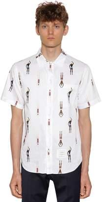 Thom Browne Printed Simmer Cotton Poplin Shirt