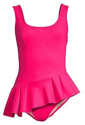 Chiara Boni Women's Ciccinin Peplum One-Piece Swimsuit