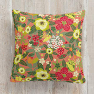 Tropical Bloom Self-Launch Square Pillows