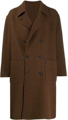 MACKINTOSH BARRHEAD Brown Check Wool Reversible Double Breasted Coat GM-1028RH/J