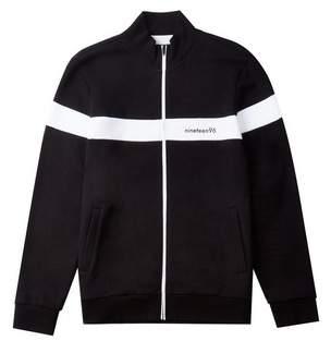 Burton Mens Black and White 1996 Funnel Neck Sweatshirt