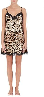 Dolce & Gabbana Women's Leopard-Print Silk-Cotton Chemise