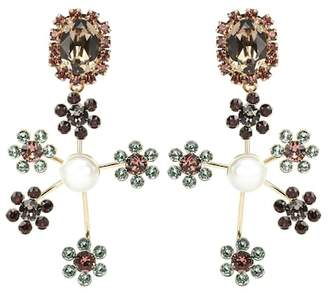 Erdem Floral Cluster clip-on earrings