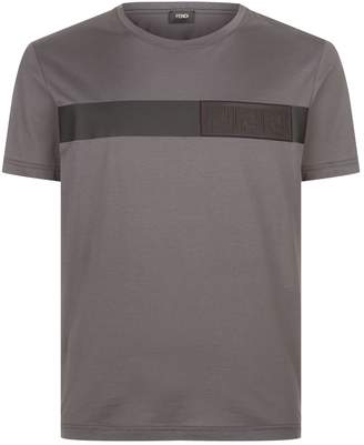 Fendi Logo Stripe T-Shirt