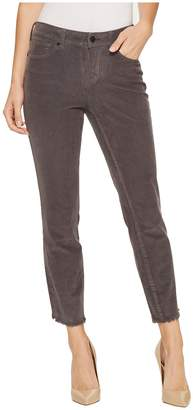 NYDJ Alina Ankle Corduroy Pants w/ Fray Hem Women's Casual Pants