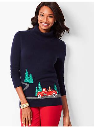Talbots Novelty Cowlneck Sweater