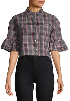 Cinq à Sept Emile Plaid Cotton Button-Down Shirt