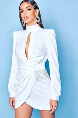bf178a025f3 boohoo White High Neck Dresses - ShopStyle UK