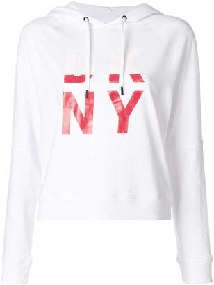 DKNY logo hooded sweatshirt