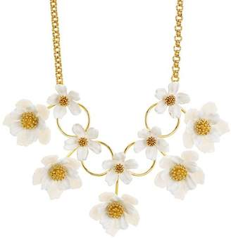 """Kate Spade Floral Statement Necklace, 14"""""""