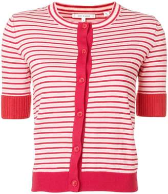 Parker Chinti & striped short-sleeve cardigan