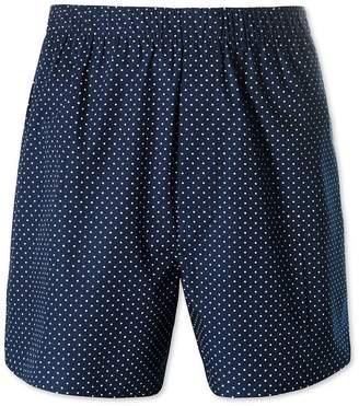 Charles Tyrwhitt Navy Printed Dot Woven Boxers Size Small