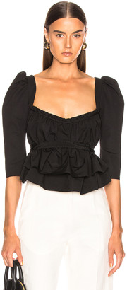 Brock Collection Occupy Ladies Blouse in Black | FWRD
