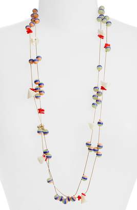 Lele Sadoughi Bead & Shell Layered Necklace