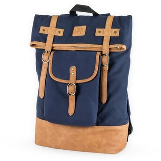 Foster & Rye Insulated Canvas Cooler Adventure Backpack in Blue