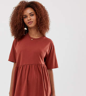 Asos DESIGN Maternity washed smock with asymmetric hem