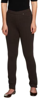 Susan Graver French Knit Jeggings with Tonal Stitching Petite