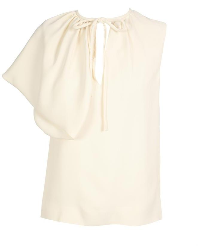 Balenciaga Techno silk noil blouse