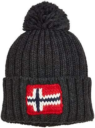 Napapijri Men's Semiury Hat Beanie, (Dark Grey Mel 197), One (Size: D)