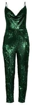 Black Halo Lucy Sequin Jumpsuit