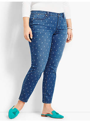 Talbots Denim Slim Ankle - Anchor Print