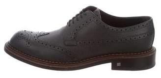 Louis Vuitton Saffiano Leather Wingtip Brogues