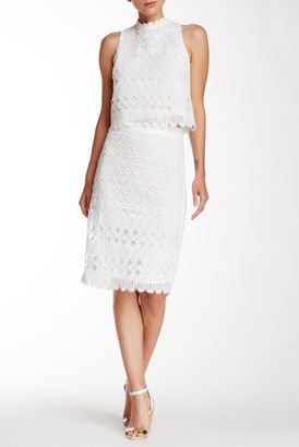 Champagne & Strawberry Lace Pencil Skirt $87 thestylecure.com