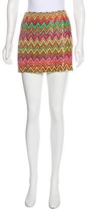 Haute Hippie Sequined Mini Skirt