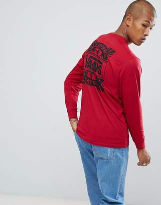 Vans Style 238 Long Sleeve Top In Red VA36TZCAR