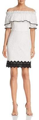 Adelyn Rae Hilda Off-the-Shoulder Lace Dress