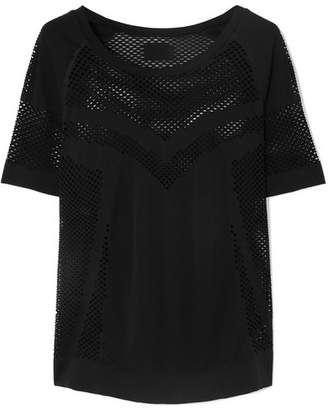 Varley Johnston Perforated Stretch-jersey T-shirt