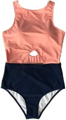 Cupshe Fashion Woen'sSiple Style Solid One-piece Bikini SetBeach SwiwearBathing Suit