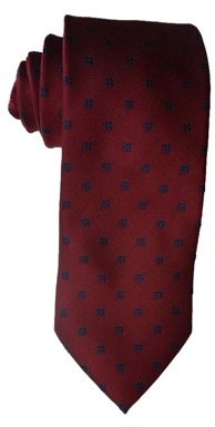 James Cavolini Italy Flower Motif Red Neck Tie