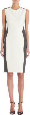 Narciso Rodriguez Sleeveless Contrast Sides Shift Dress