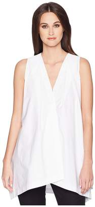 Jil Sander Navy Sleeveless Cotton Top
