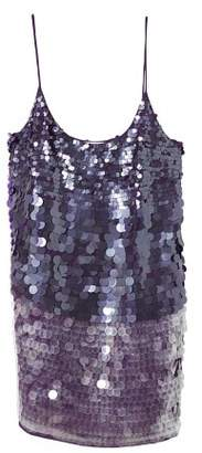 MANGO Sequin contrast-bodice dress
