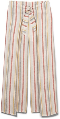 Striped Tie-front Pants