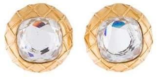 Chanel Crystal Clip-On Earrings
