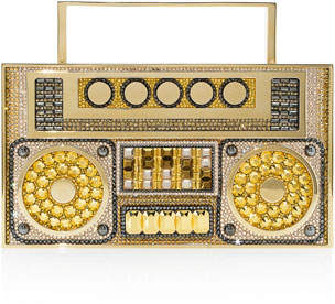 Judith Leiber Couture Boom Box Crystal Clutch Bag - Golden Hardware