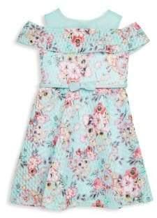 Little Girl's Printed Knit Skater Dress