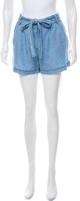 Camilla Chambray Mid-Rise Shorts