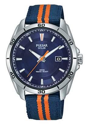 f2eb46e89 Pulsar Mens Analogue Solar Powered Watch with Nylon Strap PX3175X1