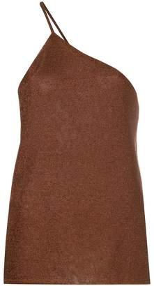 Kacey Devlin one shoulder metallic cami