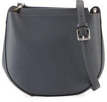 Neiman Marcus Saffiano Mini Saddle Crossbody Bag