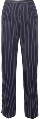 Altuzarra Lidig Pinstriped Ottoman Wide-leg Pants - Blue